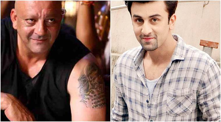 ranbir kapoor, sanjay dutt, ranbir kapoor sanjay dutt, sanjay dutt biopic, ranbir kapoor biopic, ranbir kapoor tattoo, sanjay dutt tattoo, ranbir kapoor recent pictures, indian express, indian express news, entertainment news