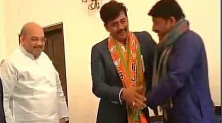 ravi kishan, BJP, Amit shah, manoj tiwari, bhojpuri actors, ravi kishan joins BJP, manoj Tiwai BJP, amit shah BJP, bjp delhi president, bjp president amit shah, bharatiya janata party