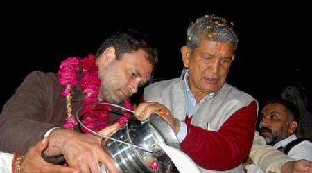 uttarakhand elections, uttarakhand polls, uttarakhand 2017 elections, harish rawat, rahul gandhi, model code violation, india news, latest news, indian express