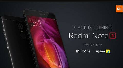 Xiaomi Redmi Note 4 black colour variant will go on sale on March 1