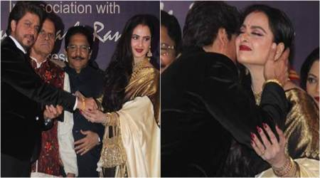 Shah Rukh Khan's candid moments with Rekha at the Yash Chopra Memorial Award are adorable