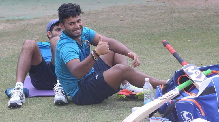 Delhi Ranji player Rishabh Pant at PCA Stadium