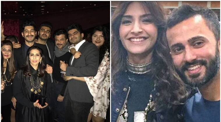 Sonam Kapoor, rumoured beau Anand Ahuja, Arjun Kapoor, Mohit Marwah and the whole Kapoor family is off of Abu Dhabi for the wedding of Mohit's brother Akshay Marwah.