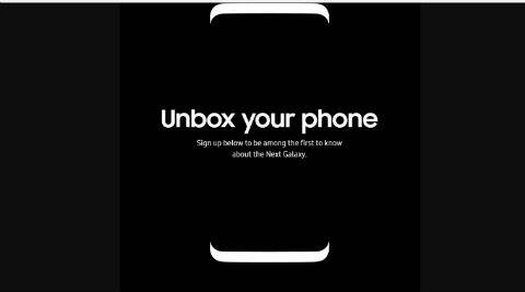 Samsung Galaxy S8's sign-up page revealed, hints at the phone'sdesign