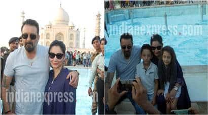 Munna Bhai Chale Agra: Sanjay Dutt visits Taj Mahal with family