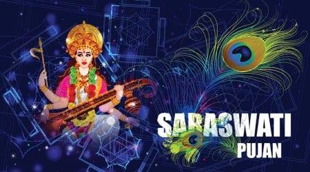 saraswati puja, bengal bjp, west bengal, indian express, west bengal politics, bjp benhal politics, trinamool congress