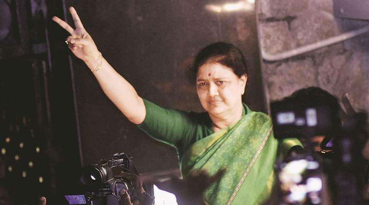 VK Sasikala, Sasikala-disproportionate assets case, AIADMK, Sasikala-AIADMK, Tamil Nadu, O Panneerselvam, Supreme court, corruption case, India news, Indian Express
