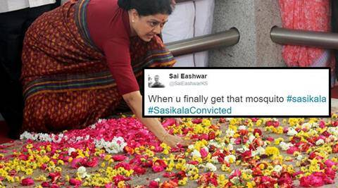 sasikala, #sasikalaconvicted, sasikala in jail, sasikala convicted, sasikala DA convicted, sasikala amma memorial, sasikala at amma memorial before jail, tiwtter reactions, twitter funny reactions, indian express, indian express news