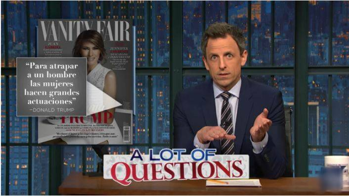 Melania Trump, seth meyers, Melania Trump vanity fair cover, Melania Trump seth meyers video, seth meyers Melania Trump vanity fair cover video, viral videos, trending videos, latest news, usa news, latest news, indian express