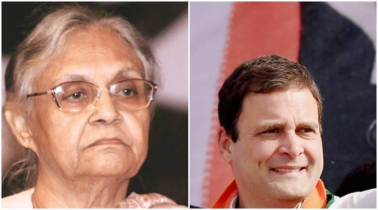 rahul gandhi, sheila dikshit, bjp, sheila not mature comment, bhartiya janta party, bjp mocks rahul gandhi, congress, bjp, india news, latest news, indian express