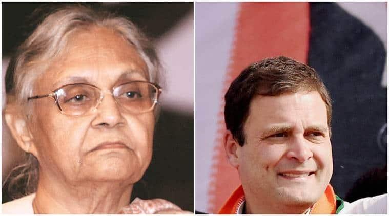 rahul gandhi, sheila dikshit, bjp, sheila not mature comment, bhartiya janta party, bjp mocks rahul gandhi, congress, bjp, india news, latest news, indian express