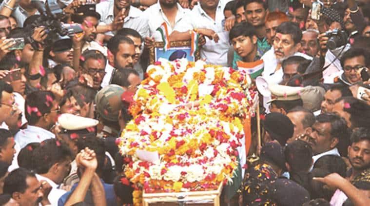 Lance Naik Gopalsinh Bhadoria's body being taken to his home in Ahmedabad. Javed Raja