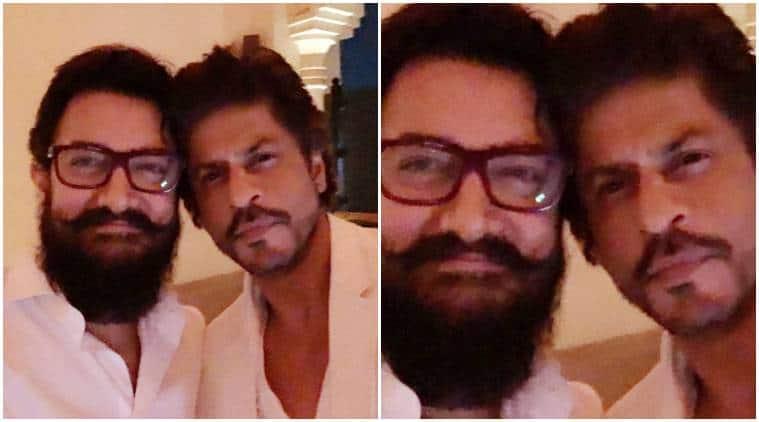 Shah Rukh Khan Aamir Khan S First Selfie In 25 Years Is