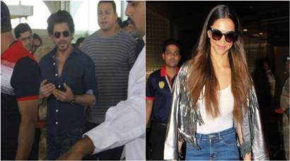 Shah Rukh Khan, Deepika Padukone spotted, Rangoon actors Shahid Kapoor and Saif Ali Khan are upto something