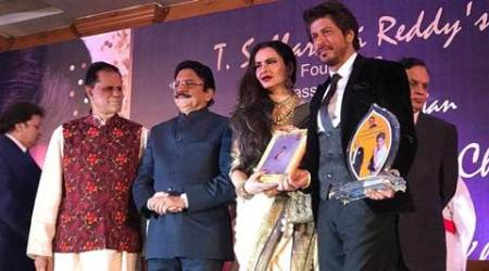 Shah Rukh Khan receives Yash Chopra Award, calls it his life's best honour, see pics