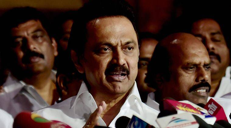 mk stalin, dmk, dmk stalin, stalin on palaniswami, stalin news, presidential elections, dmk aiadmk, india news, indian express news