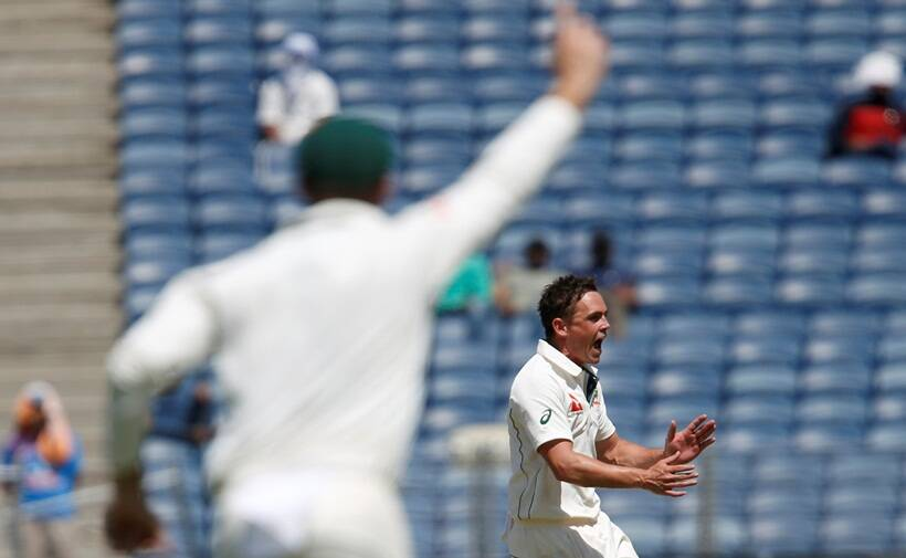 O'Keefe takes 12 Wickets, Australia trounce India in Pune Test