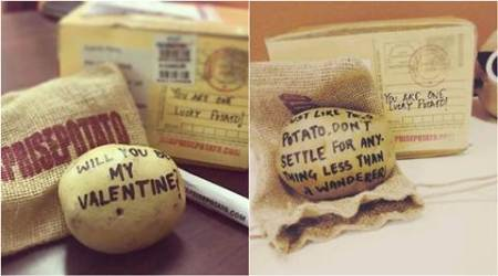 valentine's day, valentine day gift, v day gift ideas, valentine day quirky gift, gag gift valentine's day, surprise potato, unique gift for valentines day, lifestyle news, latest news, indian express