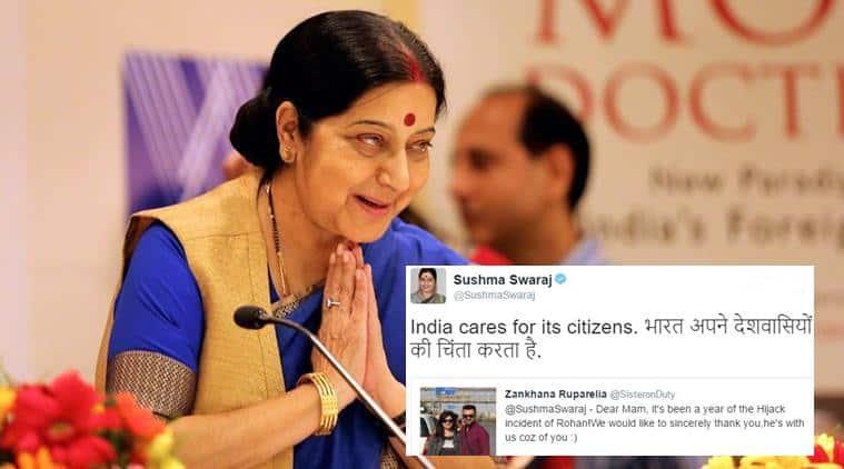 sushmaswaraj, sushma swaraj twitter, sushma swaraj happy birthday, happy birthday sushma swaraj, indian express, indian express news