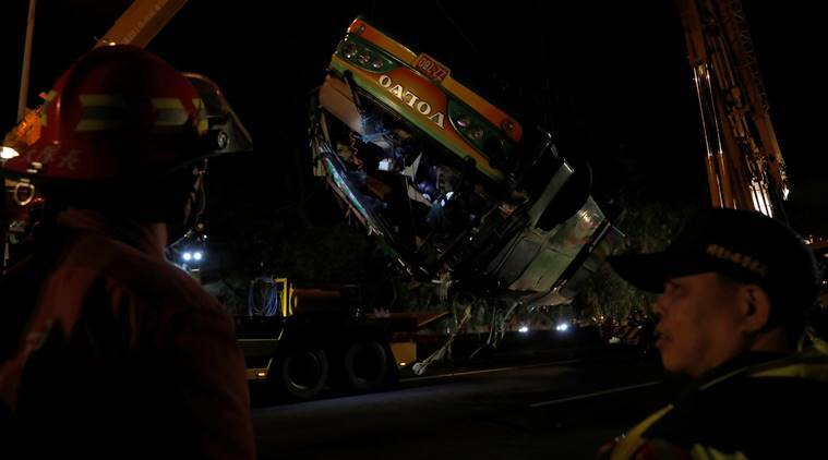 China bus accident, Shaanxi province bus accident, Bus accident, China news, World News, Indian Express News
