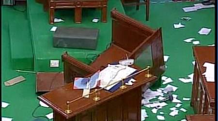 Tamil Nadu Assembly ruckus, TN floor test, floor test tamil nadu, Edippadi Palaniswamy O Panneerselvam, OPS vs EPS, TN Speaker P Dhanapal, DMK MLAs evicted, Latest news, India news