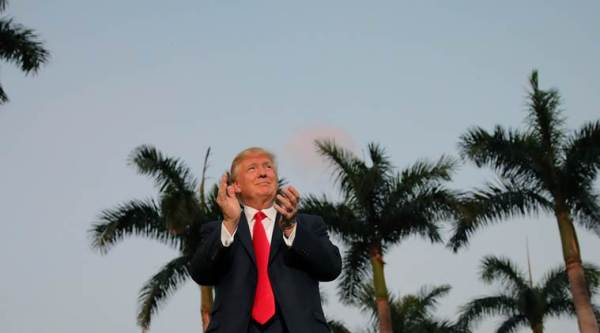 donald trump, palm beach, florida, us, indian express, express online