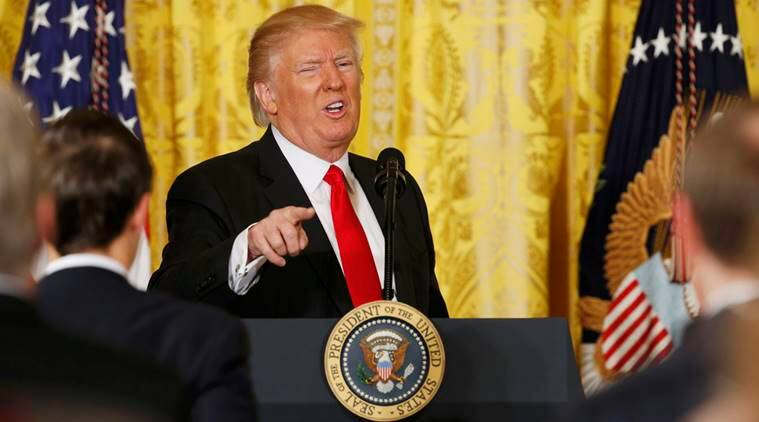 Donald Trump, Donald Trump press conference, US president Donald Trump, Islamic State, unemployment, barack obama, refugees, refugee crisis, world news, indian express