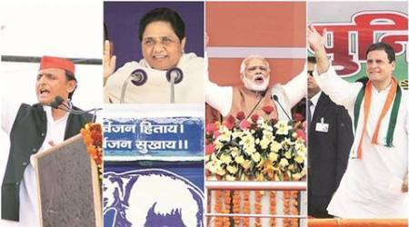 Uttar Pradesh Election 2017 Mayawati, Akhilesh Yadav, Narendra Modi, Rahul Gandhi, BSP, BJP, Congress, SP, personal attacks, amitabh bachchan, mayawati attacks modi, akhilesh attacks modi, modi attacks sp, modi attacks SP, modi attacks congress, modi attacks mayawati, India, India news, Indian Express, Indian Express news, Election news, UP election news, UP election rallies, UP election rally, Uttar Pradesh election rally, Uttar Pradesh election news, UP polls, UP polls 2017, UP polls news