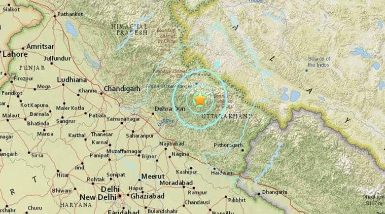 earthquake, delhi earthquake, earthquake today, big earthquake today, earthquake north india, earthquake in delhi, dehradun earthquake, uttarakhand earthquake, india news, indian express