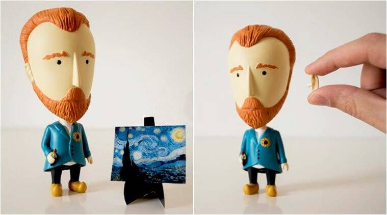 valentine's day, valentine's day gifts, valentine's day quirky gifts, van gogh, van gogh detached ear, van gogh action figure, today is art day, indian express, indian express news
