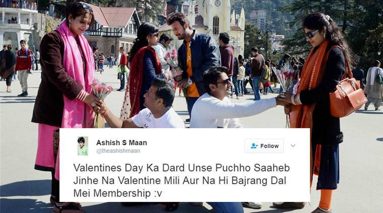 valentine day, happy valentine day, valentine's day 2017, valentine day 2017, bajrang dal, shiv sena, bajrang dal valentine's day, vday funny tweets,