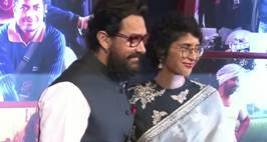 At Dangal Bash, Aamir Khan Kisses Wife Kiran Rao