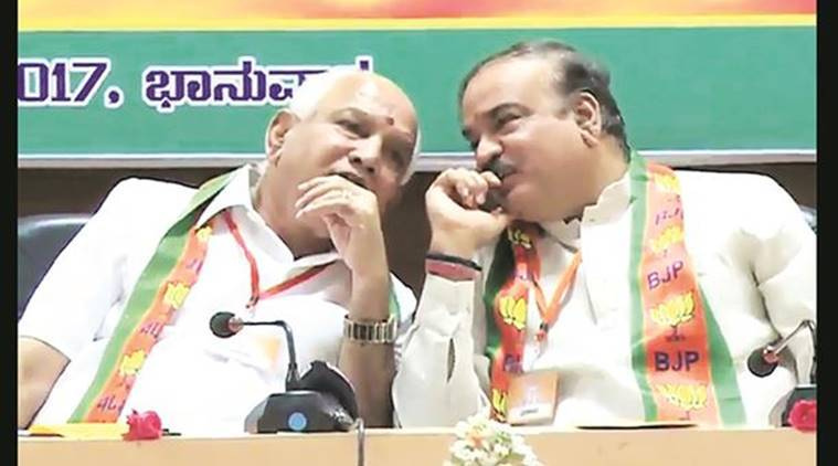 B S Yeddyurappa, H N Ananth Kumar, FIR against Yeddyurappa and Ananth Kumar, Siddaramaiah, karnataka leaked video clip, karnataka news, india news, indian express