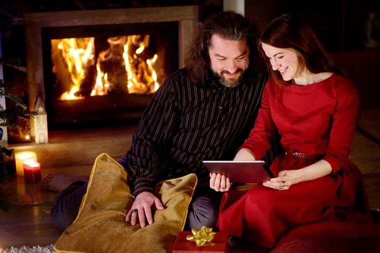 Image result for couple fireplace valentine's day