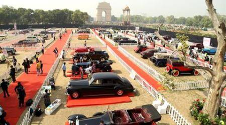 international vintage car rally, vintage car rally, International Vintage Car Rally and Concours Show, 21 Gun Salute Heritage and Cultural Trust, vintage car, indian express, indian express news