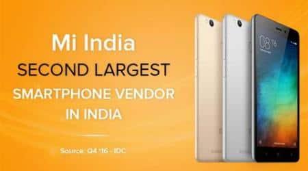 Xiaomi, Xiaomi Redmi 3S, Redmi 3S Prime, Redmi 3S Prime price, Redmi 3S sale, Xiaomi India, Xiaomi IDC, Xiaomi India sales, Xiaomi India sale numbers, Xiaomi vs Samsung
