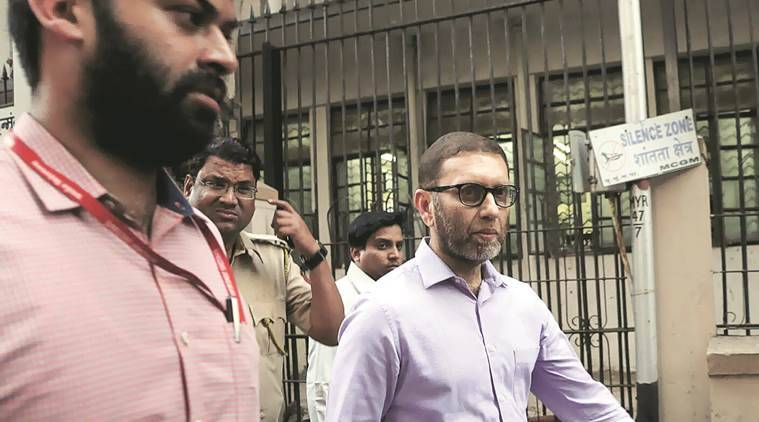 Aamir Gazdar was produced before the sessions court on Friday evening. Ganesh Shirsekar