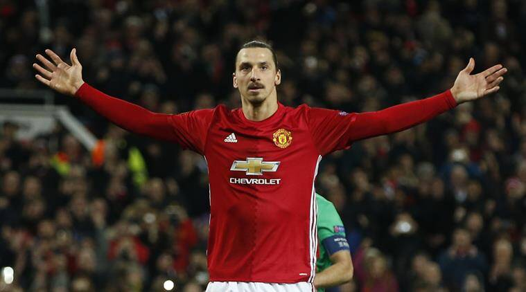 zlatan ibrahimovic, zlatan, ibrahimovic manchester united, zlatan ibrahimovic hat trick, zlatan ibrahimovic europa league, zlatan ibrahimovic europa league hat trick, zlatan ibrahimovic manchester united hat trick, manchester united vs saint etienne, football news, sports news