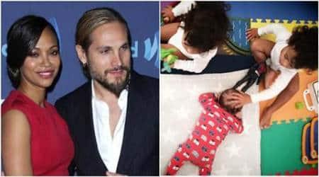 Zoe Saldana, Zoe Saldana new baby, Zoe Saldana baby, Marco Perego, Zoe Saldana baby zen, sen, zen pic, Zoe Saldana baby pic