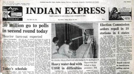 Indira Gandhi, Indira Gandhi Misrikh, indira gandhi UP elections, March 18 1977, Forty Years Ago, Forty Years Ago, indian express