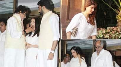 Aishwarya Rai Bachchan's father's prayer meet: Sridevi, Kajol, Twinkle Khanna, Vidya Balan inattendance