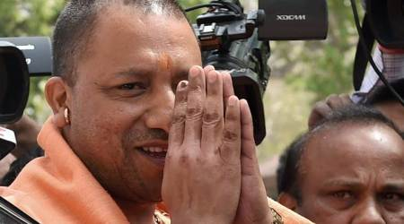 UP truck driver, yogi objectionable picture, Yogi adityanath picture, case against driver, india news, indian express news