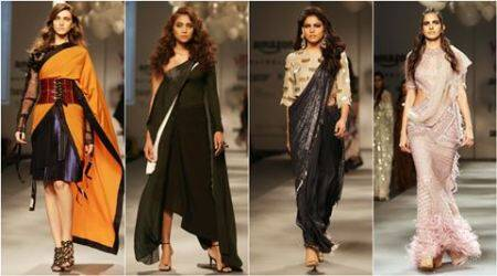 AIFW Autumn/Winter 2017: Modern sari tales finish Day 1 on a high