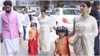 Aishwarya Rai Bachchan pays homage to father with daughter Aaradhya. Amitabh Bachchan, Abhishek attend prayer meet too