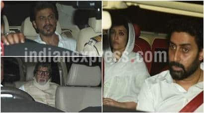 Aishwarya Rai's father Krishnaraj Rai's funeral: Shah Rukh Khan, Sanjay Leela Bhansali visitBachchans