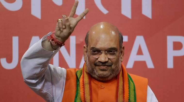 Image result for modi shah with victory sign