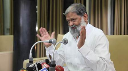 Stones pelted at Haryana Health Minister Anil Vij's vehicle, two held