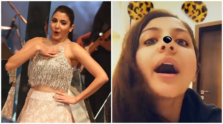 anushka sharma, anushka sharma snapchat, anushka sharma snapchat profile, anushka sharma phillauri, diljit dosanjh, snapchat filters, anushka sharma films, phillauri songs, phillauri trailer, phillauri release, indian express news, indian express, entertainment news