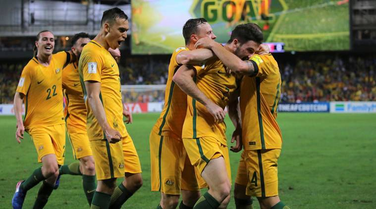 Australia vs UAE, UAE vs Australia, Australia UAE, Jackson Irvine, Mathew Leckie, World Cup qualifiers, World Cup qualifiers news, World Cup qualifiers, World Cup qualifiers updates, sports news, sports, football news, Football, Indian Express