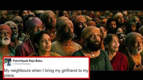 baahubali, baahubali video, baahubali twitter funny reactions, twitter funny reactions on baaahubali, baahubali twiiter funny memes, baahubali funny tweets, indian express, indian express news